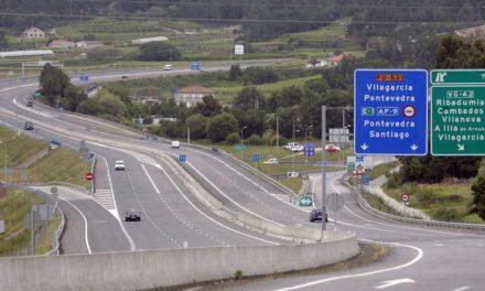 Obras de reasfaltado en la Autovía del Salnés