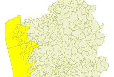 Alerta amarilla por intensas lluvias para esta tarde