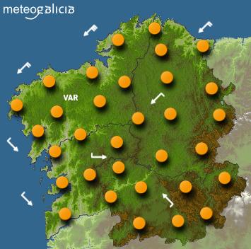 Tendremos una tarde tórrida con temperaturas de 30 grados y más en cualquier rincón de Galicia