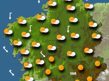 Martes de anticiclón. Miércoles volverán las lluvias y el jueves, de nuevo calor.