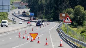 Semana de cortes de tráfico y desvíos en la Autovía del Salnés por el reasfaltado
