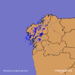 Llegan lluvias a media mañana