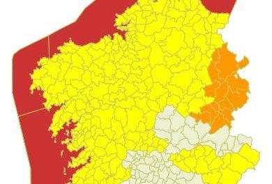 Temporal muy duro para este jueves tanto en el litoral como en el interior de Galicia
