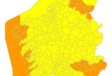 Galicia de nuevo en alerta meteorológica ahora a causa de la borrasca «Elsa»