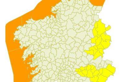 Otra borrasca con nombre propio: «Daniel». Aviso de nevadas en las provincias de Ourense y Lugo