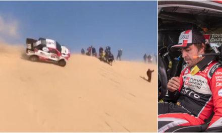 Fernando Alonso y Marc Coma salen ilesos y siguen en el Dakar después de dar dos vueltas de campana