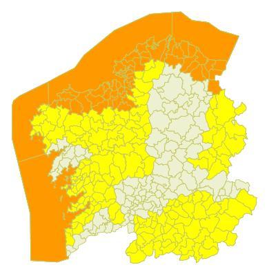 La alerta naranja para este martes determina que la Xunta ordenase la suspensión de actividades en el exterior de las zonas de Galicia más azotadas por el viento