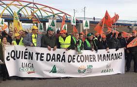 Primera manifestación agraria en Galicia