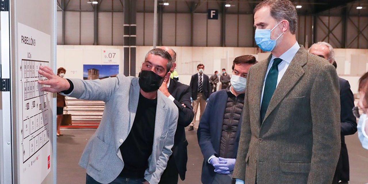 El Rey visitó el hospital de campaña construido en un pabellón de IFEMA