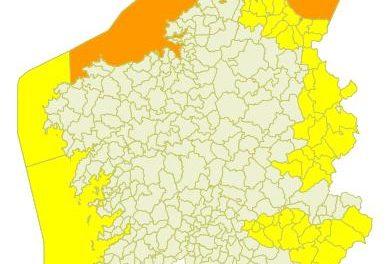 Alerta naranja en el litoral desde la madrugada debido a fuertes vientos