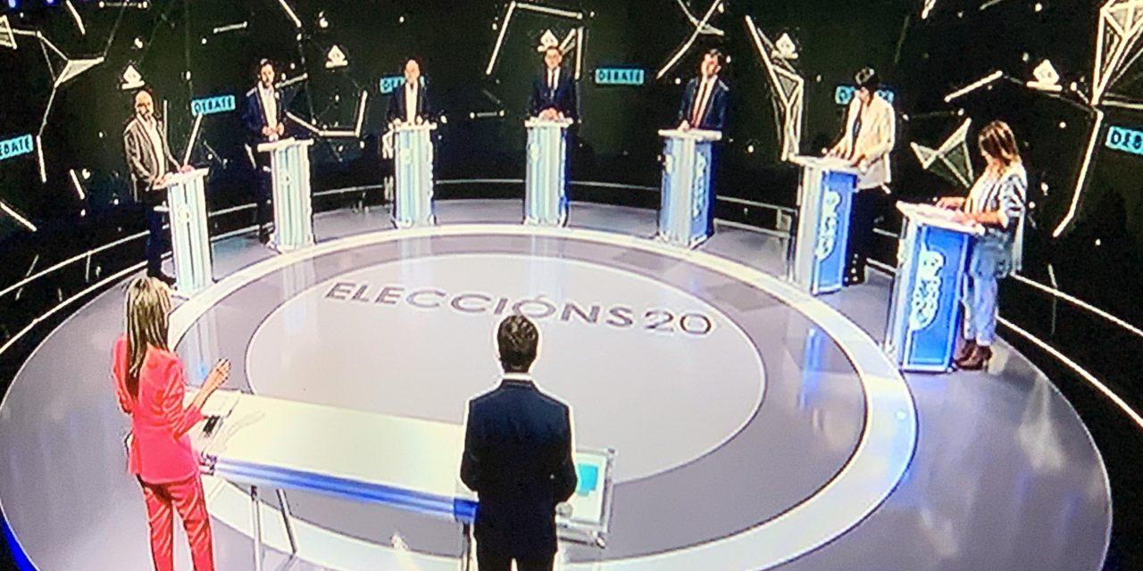El debate de los candidatos a la Xunta en TVG fue una jaula de grillos