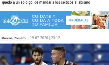 El Celta consigue mantenerse en Primera gracias a que el Leganés no pudo ganar al Real Madrid