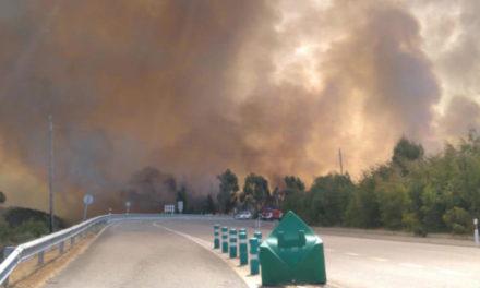 El primer gran incendio de este verano destroza más de 100 hectáreas al lado de la Autovía A-52 por donde discurre