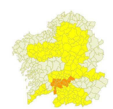 Avisos por ola de calor en ocho comarcas de las cuatro provincias gallegas