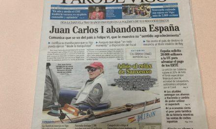 El rey emérito decidió salir de España