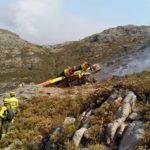 Primera víctima mortal por los incendios forestales de este verano en Galicia