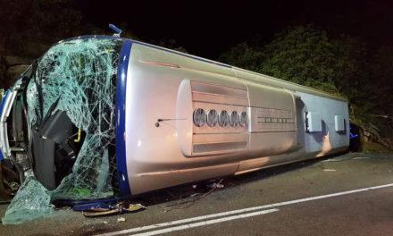 Un caballo en la carretera causó el vuelco del autobús con trabajadores de Citroen