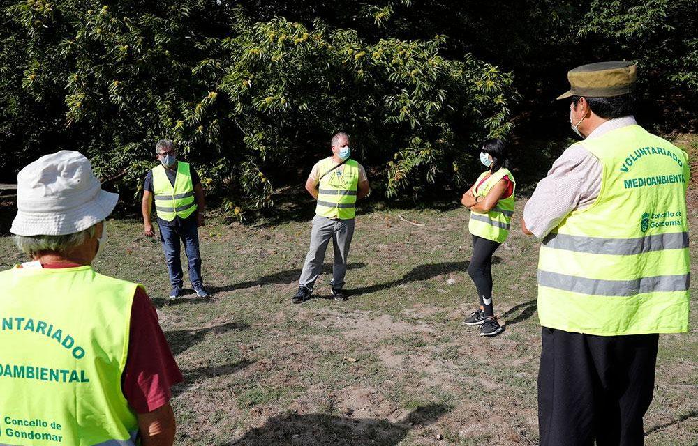 Vecinos de Gondomar utilizan chalecos amarillos y patrullan los montes para prevenir incendios forestales