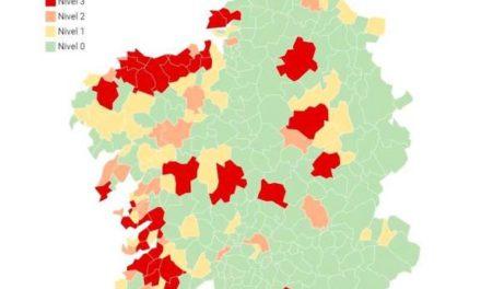 Novedades en el mapa de concellos en alerta roja: Vilagarcía y Nigrán mejoran. Empeora Salvaterra