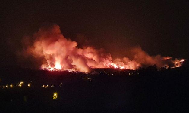 Un rayo provocó el incendio forestal que ha afectado a varios concellos